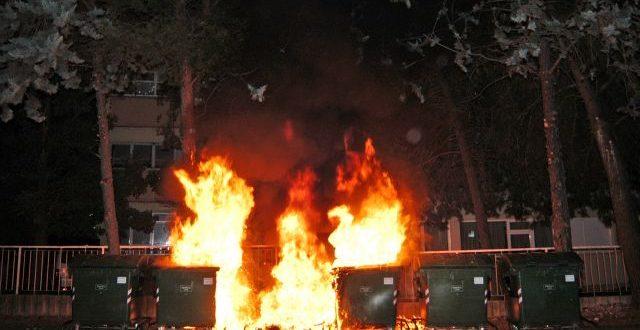 Nepoznati pocinitelj na Vostarnici zapalio kontejner 16.8.2010.